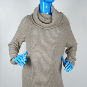 Gap Maternity Sweater Dress Ribbed Knit Gray XL 16